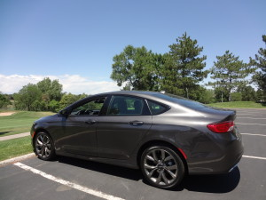 The 2015 Chrysler 200S along the Inverness golf course in Arapahoe County. (Bud Wells photos)