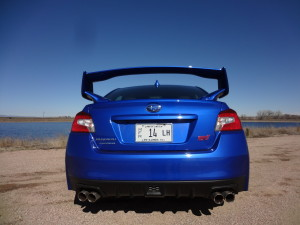 The winged WRX STI helped Subaru post big sales gain. (Bud Wells photo)
