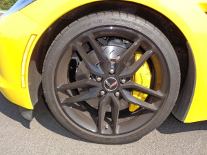 Yellow-painted brake calipers are a highlight.
