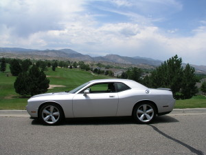 The 2008 Dodge Challenger SRT8 at Mariana Buttes Golf Course near Loveland. (Bud Wells photo)