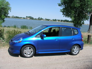 The original Honda Fit, an '07 model introduced in 2006.