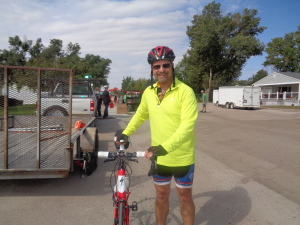 Fred Citta, of Gering, Neb., rides Specialized Roubaix bike.