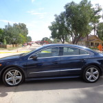 Volkswagen CC detours to bike path