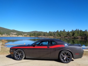 The 2015 Dodge Challenger R/T at Missouri Lakes, near Blackhawk. (Bud Wells photos)