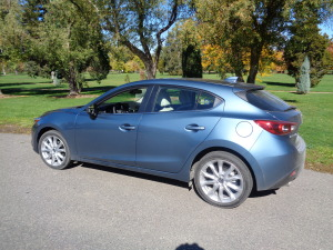 The 2015 Mazda3 hatchback at City Park, Denver. (Bud Wells photo)