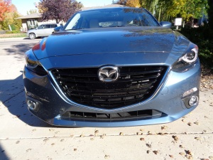 Prominent grille on '15 Mazda3. (Bud Wells photo)