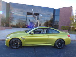 A yellow/gold finish adds flair to 2015 BMW M4 Coupe. (Bud Wells photos)