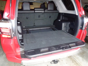 A slide-out cargo tray has been popular with the 4Runner for several years.