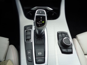 Driver controls for the BMW X4 crossover.
