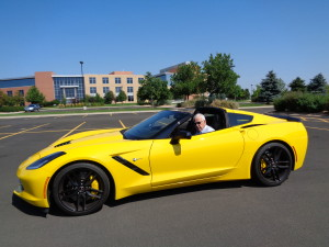 Velocity yellow was suitable for '14 Chevy Corvette.