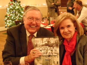"Bob and Gerri Sweeney with ""The 100-Year Deal"" at the Denver Press Club. (Jan Wells photo)"