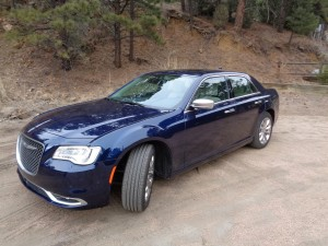 The 2015 Chrysler 300C Platinum sedan in Four Mile Canyon, west of Boulder. (Bud Wells photo)