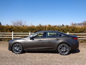The 2016 Mazda6 Grand Touring model rides on 19-inch wheels. (Bud Wells photos)