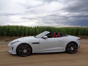 White exterior, red interior highlight 2016 Jaguar F-Type R convertible. (Bud Wells photos)