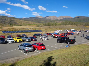 Devil's Thumb Ranch near Tabernash provided setting for test-driving of new cars and trucks. (Bud Wells)