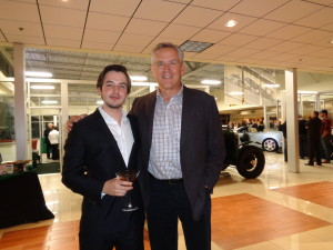 Aleks Vekselberg, left, owner of Bentley of Denver, in the showroom with Rod Buscher, longtime Colorado auto dealer. Buscher and John Elway were partners in car dealerships in Denver 20 to 25 years ago.