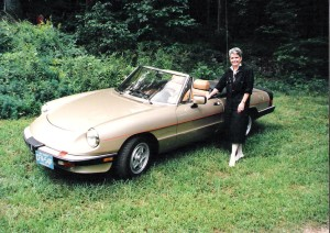 Betty Sue Harris with her 1989 Alfa Romeo Spider. (Ernie Harris photo)