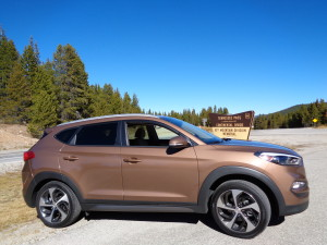 The 2016 Hyundai Tucson Sport on Tennessee Pass. (Bud Wells photo)
