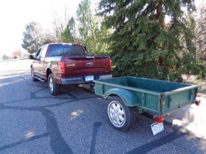 A small trailer is hitched for testing of Ford F-150's Pro Trailer Backup Assist system. (Dale Wells photo)