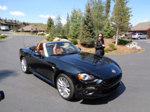 Angela Bianchi, a PR manager for FCA, introduces Fiat 124 Spider.
