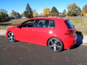 The VW Golf R hatchback is hot performer.