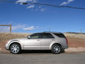 The SRX (first-generation photo) has been replaced by the new XT5 in the Cadillac lineup. (Bud Wells)