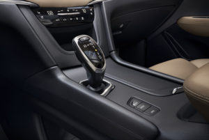 The electronic shifter in the new XT5. (Cadillac)