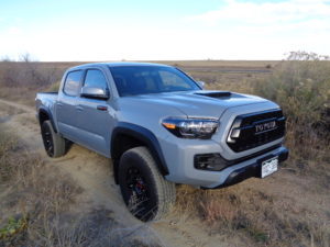 The beefed-up 2017 Toyota Tacoma TRD Pro 4X4 Double Cab is at home in the brush. (Bud Wells photos)